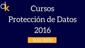 Cursos de Protección de Datos 2016